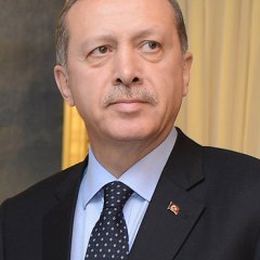 The prime minister of Turkey, Recep Tayyip Erdogan, during a meeting in Ankara, Turkey.