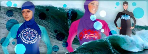 Burkini photomontage