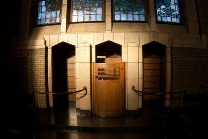 Confessional in a Basilica