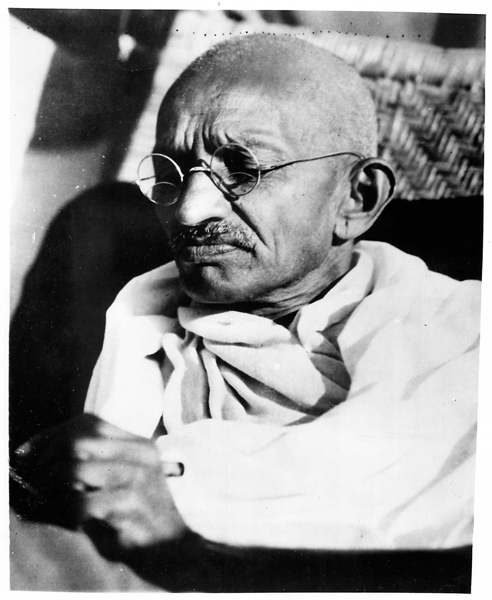 """Mohandas K. Gandhi, the Indian """"mahatma"""" (great teacher) and political liberator was assassinated in 1948. *On this day in history note: On Sept. 20, 1932 Gandhi began a hunger strike against the treatment of untouchables. Religion News Service file photo"""