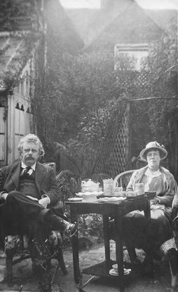 G.K. Chesterton and his wife Frances. Photo courtesy American Chesterton Society