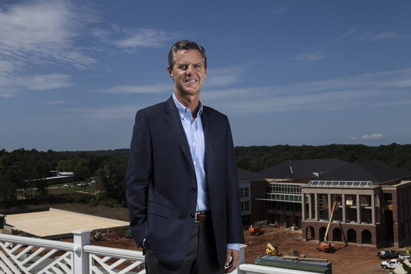 Liberty University's Jerry Falwell Jr. has overseen a massive expansion of the Lynchburg, Va. campus. Fueled by online enrollment the campus has multiple capital projects in the works. Photo by Ryan T. Stone/courtesy USA Today