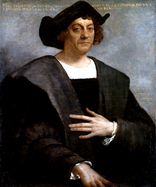 Posthumous portrait of Christopher Columbus by Sebastiano del Piombo, 1519. There are no known authentic portraits of Columbus, according to Wikipedia.