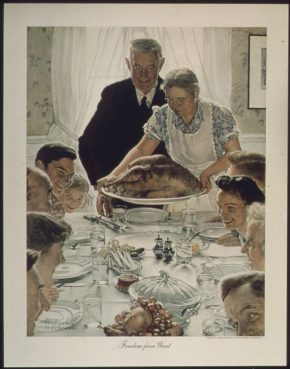 "Norman Rockwell's ""Freedom from Want"" painting."