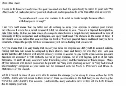 Kyle Pedersen letter