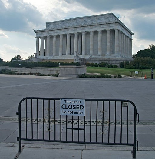 The Lincoln Memorial is closed during the government shutdown on Oct. 6, 2013.