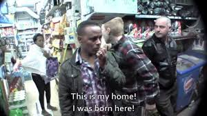Gang of Israeli ultra-nationalists confronting African refugees