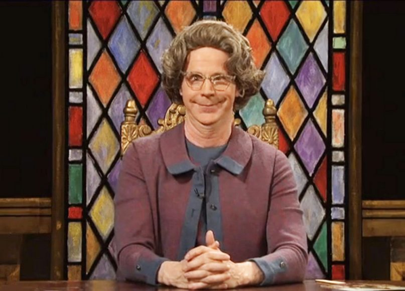 Dana Carvey as Church Lady on Saturday Night Live.