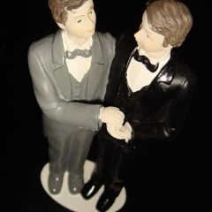 Indiana Gov. Mike Pence is expected to sign a bill that allows business owners to refuse same-sex wedding clients who want to buy goods such as this cake topper.