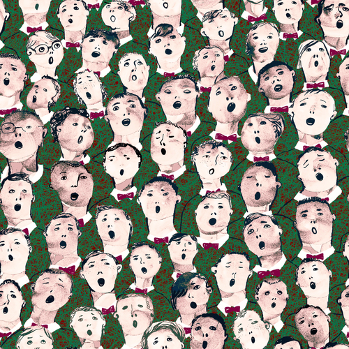 Holiday choir illustration