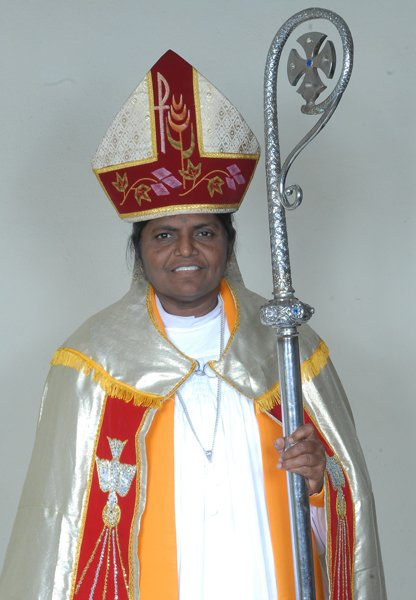 """The Rev. Eggoni Pushpalalitha, who was appointed a bishop of the Church of South India on Monday, said she faced bias against women in leadership roles """"but only until my consecration."""" Photo courtesy Rev. Eggoni Pushpalalitha"""