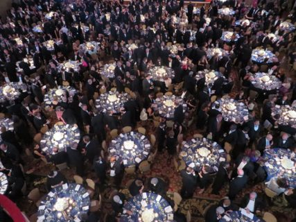 The annual Al Smith Dinner on Thursday night (Oct. 17) at the Waldorf Astoria in New York. RNS photo by David Gibson