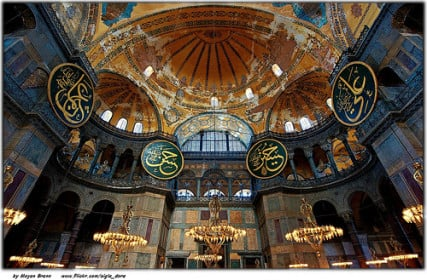 The stunning Hagia Sophia church, I mean mosque, I mean museum ... in Istanbul, Turkey.