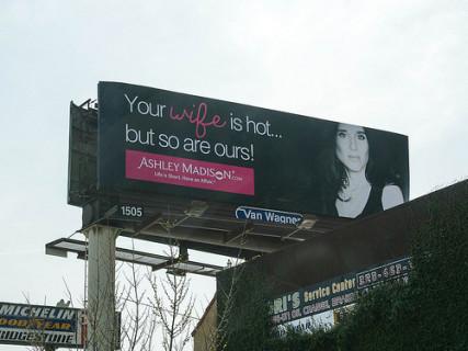 Ashley Madison billboard.