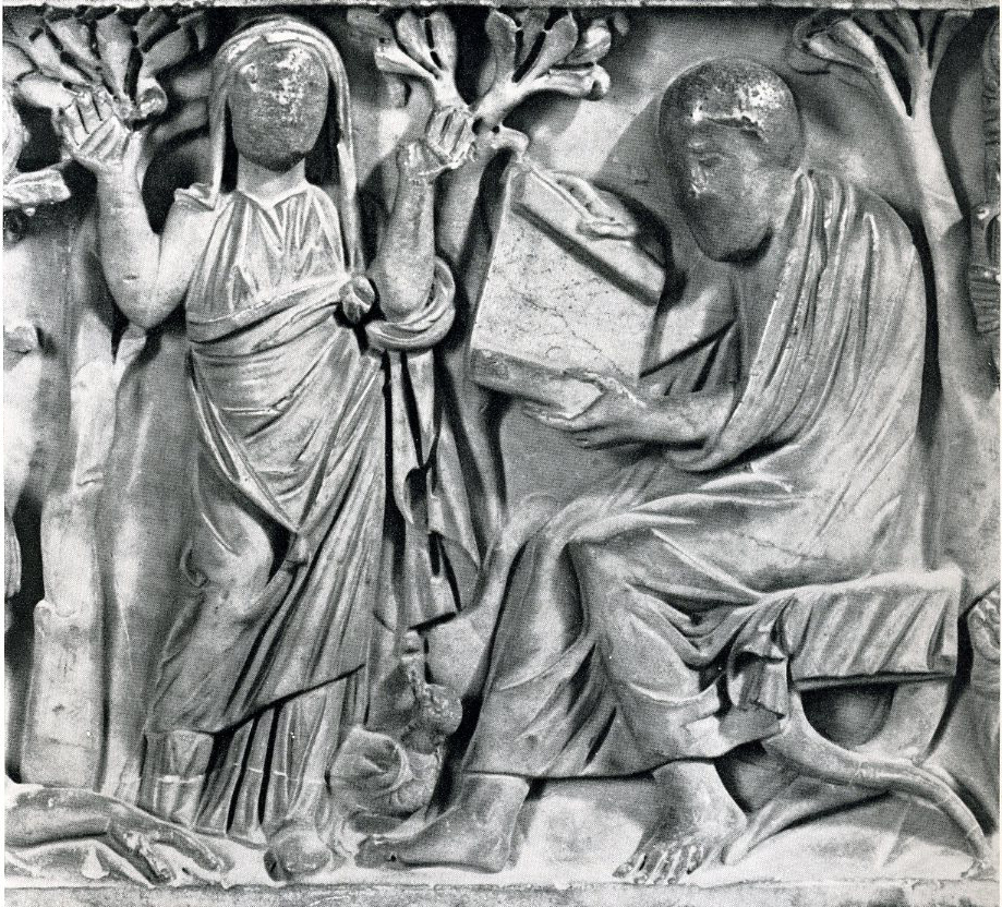 Detail from sarcophagus in Sta. Maria Antiqua in Rome