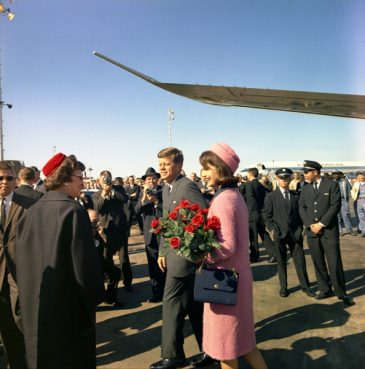 President and Mrs. Kennedy arrive at Love Field in Dallas, Texas on November 22, 1963. Photo by Cecil Stoughton, courtesy of John F. Kennedy Presidential Library and Museum, Boston