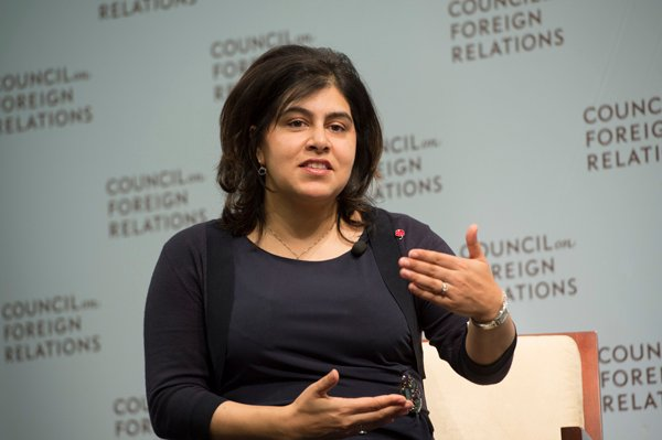 "Baroness Sayeeda Warsi, the government's Minister for Faith and the first Muslim member of a British cabinet, said religious freedom is a proxy for human rights and must not be an ""add-on"" to foreign policy. Photo by Kaveh Sardari/Council on Foreign Relations"