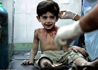 Three year old Syrian child