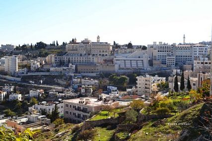 Overlooking view of Bethlehem,
