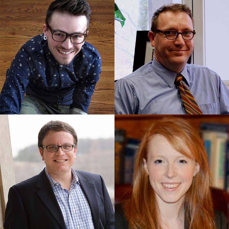 RNS Blogger photos courtesy Chris Stedman, Tobin Grant, Boz Tchividjian, and Laura Turner