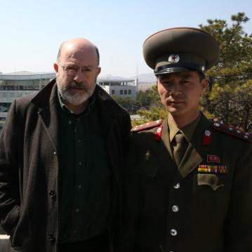 BBC investigative reporter John Sweeney at the Demilitarized Zone in North Korea
