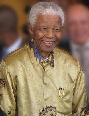 Nelson Mandela in Johannesburg, Gauteng, on 13 May 2008.
