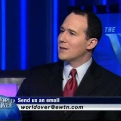 """The World Over with Raymond Arroyo"" is broadcast in"