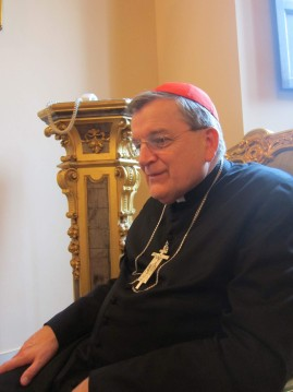 Cardinal Raymond Burke in his office in the Roman Curia, 2012