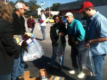 Members of Upstate Atheists distribute goods to the needy of Spartanburg, S.C. after their offer to help at a local, Christian-run soup kitchen was rebuffed. Photo courtesy of Eve Brannon of Upstate Atheists
