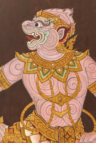 An image of Hanuman, often depicted as a monkey.