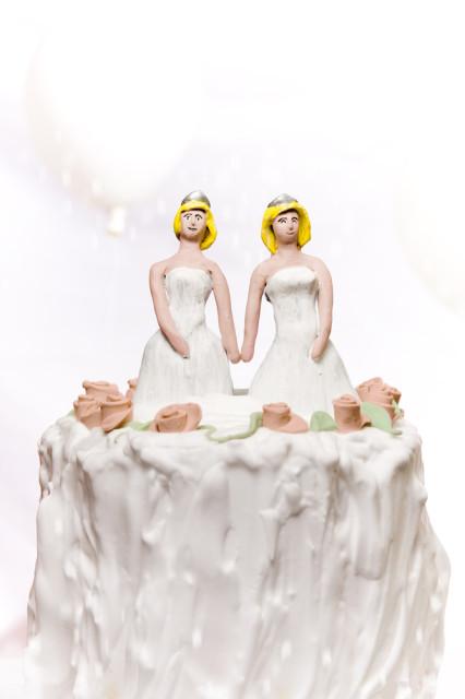 Melting gay wedding cake?