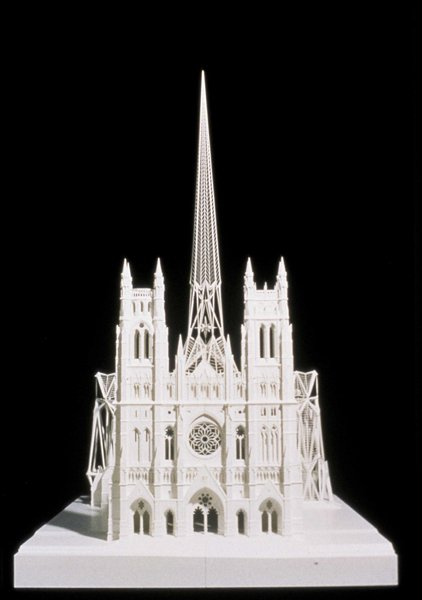 An exhibit focusing on the church designs of noted Spanish architect Santiago Calatrava went on display at the Vatican this week, with a large model, seen here, — shown to the public for the first time — of the soon-to-be rebuilt St. Nicholas Greek Orthodox Church in New York, which was destroyed in the 9/11 attacks. Photo courtesy Santiago Calatrava