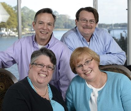 The four plaintiffs in a major Virginia case challenging the state to permit gay marriage are, clockwise from top left, Tim Bostic, Tony London, Mary Townley and Carol Schall.   Photo by H. Darr Beiser, courtesy USA Today