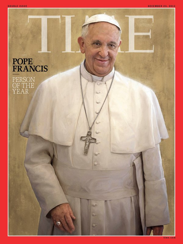 (RNS) Pope Francis was named Time magazine's Person of the Year for 2013. Photo courtesy Time magazine