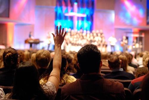 Megachurch worship - Photo by Mor via Flickr (http://bit.ly/1kHq3J1)