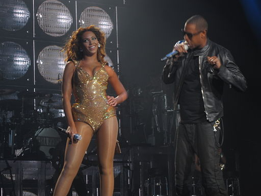 Beyonce and Jay Z at the O2 in London - Photo by idrewuk via Wikimedia Commons (http://bit.ly/M5QZT2)