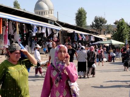 Chorsu Bazaar in Tashkent, Uzbekistan.