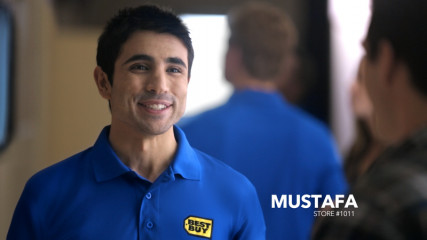 Best Buy employee Mustafa, who is featured on a Best Buy commercial. Photo courtesy of Best Buy