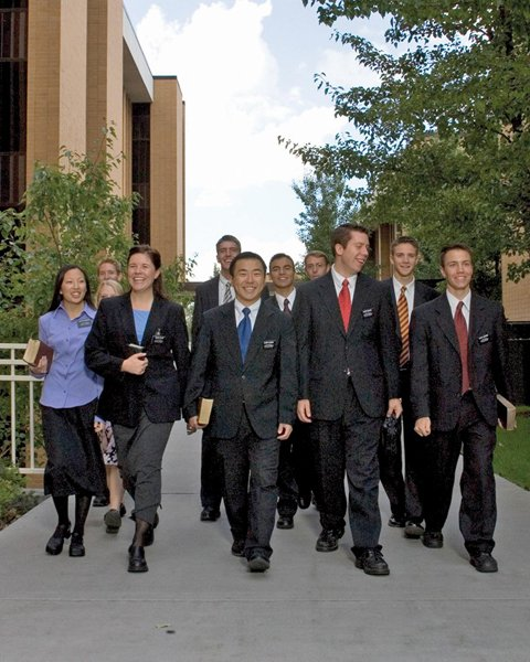 Missionaries at the Missionary Training Center in Provo, Utah. There are several training centers located worldwide. Photo courtesy The Church of Jesus Christ of Latter-day Saints