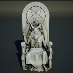 """The Satanic Temple"" unveiled its proposal for a monument it intends to erect next to another religious statue: a depiction of the Ten Commandments on the Oklahoma State Capitol. Illustration courtesy of The Satanic Temple"