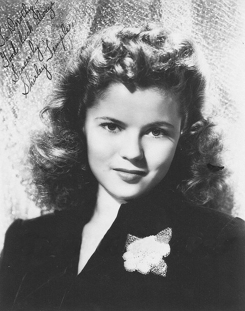 Shirley Temple at 18. Photo by Film Star Vintage via Flickr (http://bit.ly/1iLAuqZ)