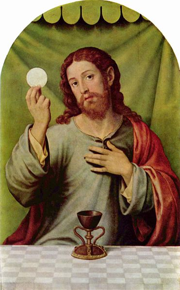 Christ with the Eucharist, Vicente Juan Masip, 16th century.