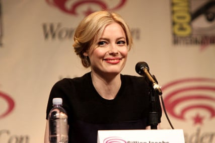 Gillian Jacobs speaking at the 2012 WonderCon in Anaheim, California.