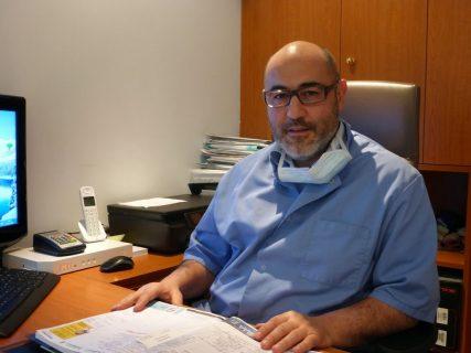 David Tibi at his office. RNS photo by Lisa Bryant