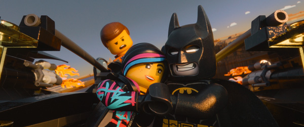 "Left to right, LEGO minifigures Emmet (voiced by Chriss Pratt), Wyldstyle (voiced by Elizabeth Banks) and Batman (voiced by Will Arnett) in the 3D computer animated adventure ""The LEGO Movie,"" from Warner Bros. Pictures, Village Roadshow Pictures and Lego System A/S. Photo courtesy of © 2014 Warner Bros. Entertainment Inc."
