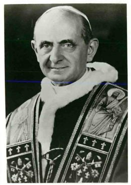 (1978) Pope Paul VI, died at 9:40 p.m. on Aug. 6 at the age of 80, after suffering a heart attack in his summer residence at Castel-gandolfo, Italy. Religion News Service file photo