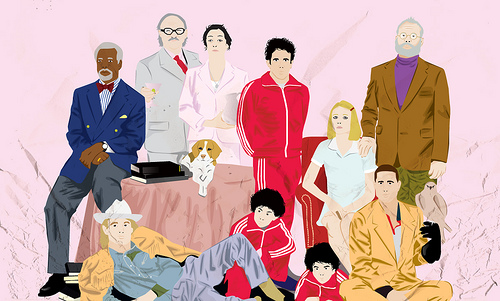 An illustration of the cast of The Royal Tenanbaums. Photo by bvu via Flickr (http://bit.ly/1dwaWNv)