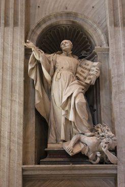 Camillo Rusconi (1658–1728) - Statue of St. Ignatius of Loyola at St. Peter's Basilica, Vatican (1733).