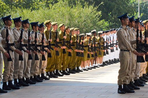 Israeli soldiers and band members prepare for a visit from Chairman of the Joint Chiefs of Staff U.S. Army Gen. Martin E. Dempsey in Tel Aviv, Israel, on Oct. 29, 2012