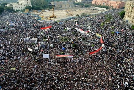 Demonstrations in Tahrir Square in Nov. 2011.